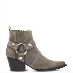 Marc Fisher halie gray suede ankle boot bootie